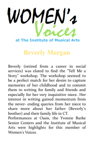 Women's voices Bio_B Morgan