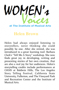 Women's voices Bio_Brown