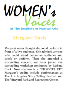 Women's voices Bio_Davis