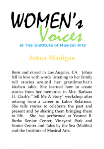 Women's voices Bio_J Madigan