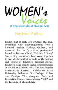 Women's voices Bio_R Walker